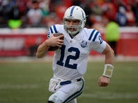 Indianapolis has managed to keep quarterback Andrew Luck safe despite several injuries to the offensive line.