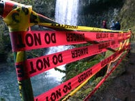 A 10-year-old boy was hospitalized after falling from this location along the Lower South Falls trail at Silver Falls State Park this weekend.