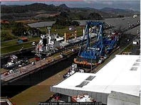 The Left Coast Lifter in the Miraflores Locks.