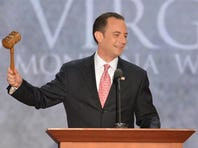 Reince Priebus calls the 2012 Republican National Convention to order in Tampa on Aug. 27.