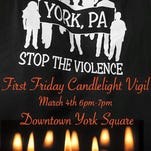 The Stop the Violence group plans to hold a candlelight vigil in York city.