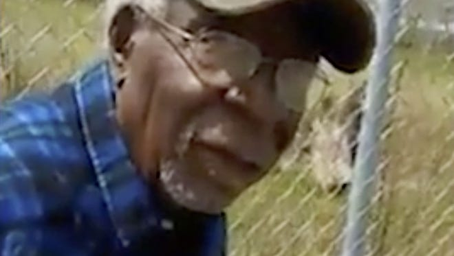 This April 16, 2017, frame from video posted on Facebook shows Robert Godwin Sr. in Cleveland moments before being fatally shot. T