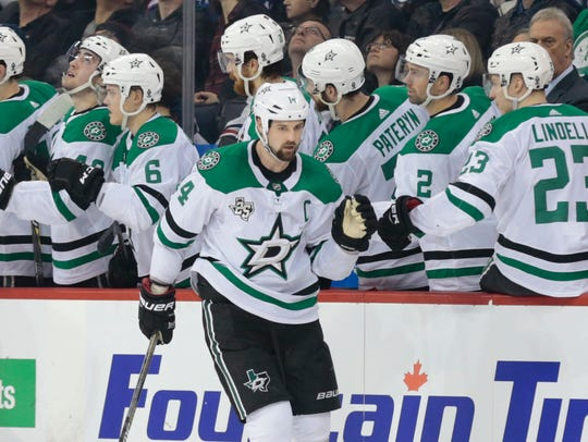 Jamie Benn and the Stars have been sputtering down