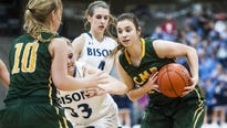 The Bison girls played host to the rival Rustlers Thursday night at Swarthout