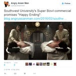 Southwest University's ad during Super Bowl irks a blogger.