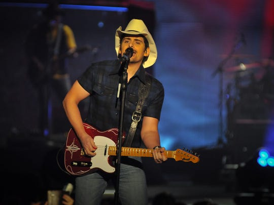 Brad Paisley will perform at 7:30 p.m. June 3 at the Isleta Amphitheater, in Albuquerque. Special guests Tyler Farr and Maddie & Tae. Tickets range in price from $30.25 to $60 plus fees and are available through Live Nation, www.livenation.com and 800-745-3000.
