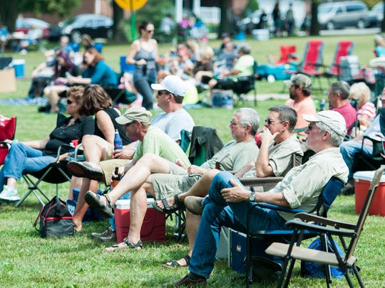 Crowd at a past Ferdinand Folk Festival.