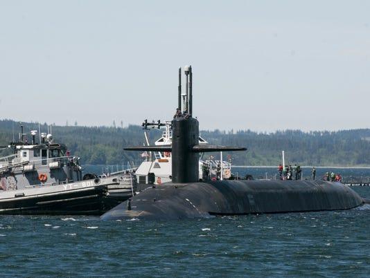 Submarine visits Guam