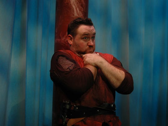 """Ryan Kathman stars as Shakespeare's Danish prince in """"One Ham Manlet,"""" opening this weekend at Theatre Memphis."""