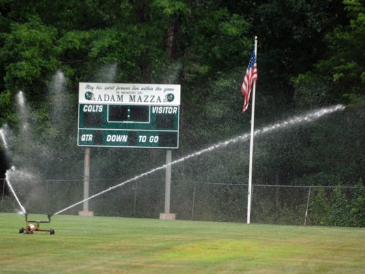 Kinnelon High School no turf field