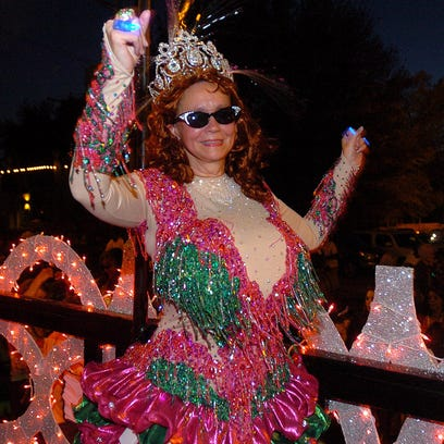 Head Sweet Potato Queen Jill Conner Browne dances on
