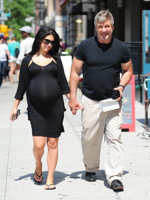 Alec Baldwin and wife Hilaria in Greenwich Village on Aug. 16.