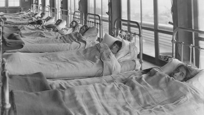 Women were admitted to the former Michigan State Sanatorium in 1908, a year after the first male patients.