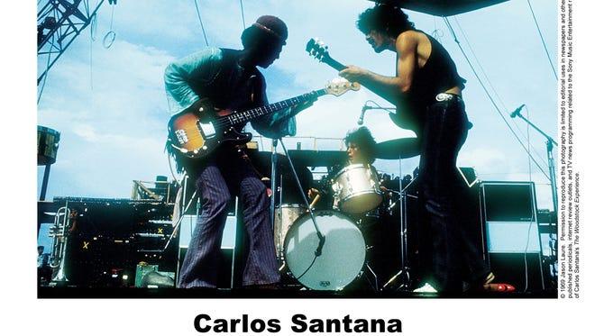"Carlos Santana at Woodstock from the CD, ""Santana: The Woodstock Experience."""
