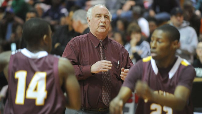 St. Elizabeth head coach Dick Rago, who has announced his retirement after 30 years as boys basketball coach, is a five-time Catholic Conference coach of the year and three-time Blue-Gold coach with a 358-319 career record.