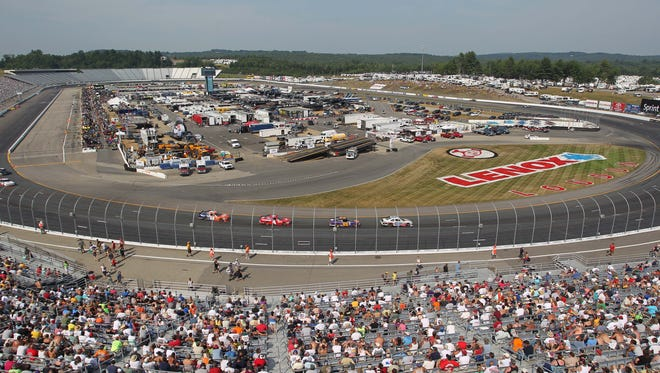 A general view of New Hampshire Motor Speedway during the 2012 F.W. Webb 200.