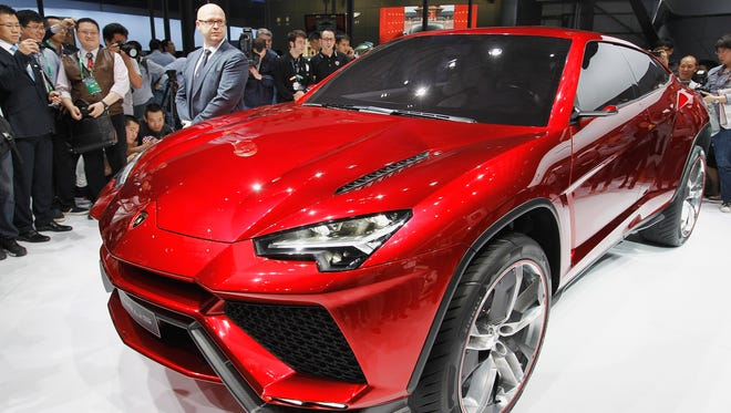 Lamborghini Urus was the sport-utility concept that the brand showed at an auto show in China.