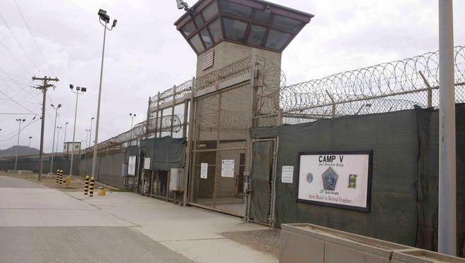 This 2014 file photo show the entrance to Camp 5 and Camp 6 at the U.S. military's Guantanamo Bay detention center at Guantanamo Bay Naval Base, Cuba.