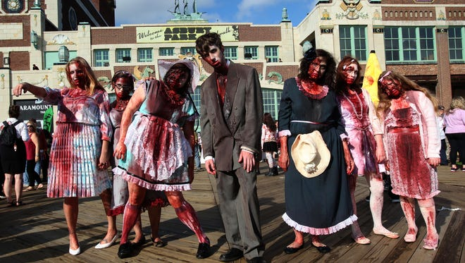 Zombies on the Asbruy Park boardwalk? You betcha.