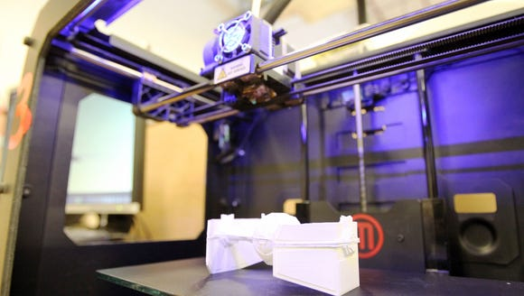 3-D printer: An additive manufacturing process to create