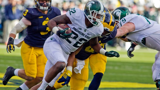 Michigan State running back Delton Williams carried eight times for 15 yards Saturday at Michigan.