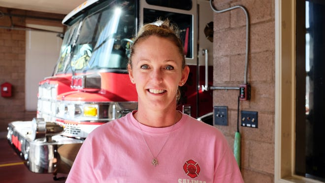 Salinas Fire Captain Michele Vaughn, photographed at Station 3 on Thursday, October 29th, 2015.