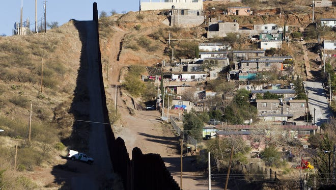 The border fence between the United States and Mexico is seen in Nogales.