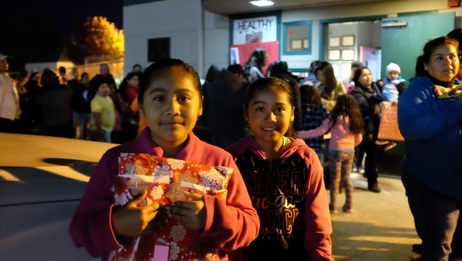 Dani and Gabi Sixto were happy to attend the toy giveaway on Friday, made possible by the César Chávez Futbol Academy and the Alisal Family Resource Center.