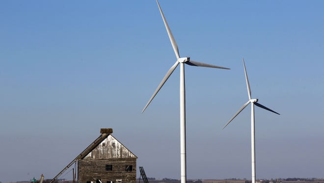Iowa snagged 31.3 percent of its electricity last year from wind generation, according to data released by the U.S. Energy Information Administration.