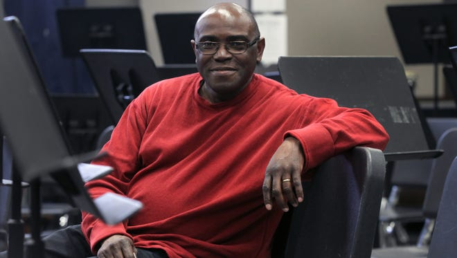 Myron McReynolds poses for a photo at the City High band room on Monday, Feb. 22, 2016.