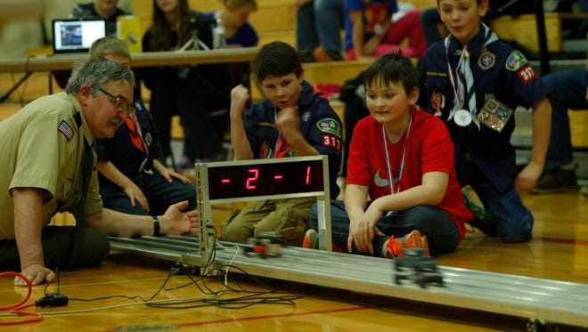 Rossville Cub Scout Pack 337 competed Saturday for Pinewood Derby bragging rights.