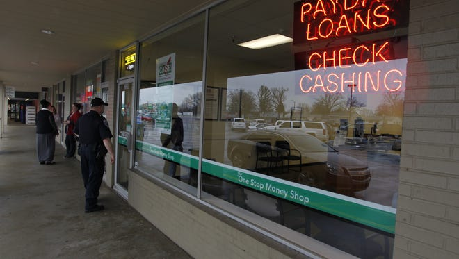 An armed robbery was reported about 10:30 a.m. Thursday at a Check Into Cash in the 2300 block of Teal Road.
