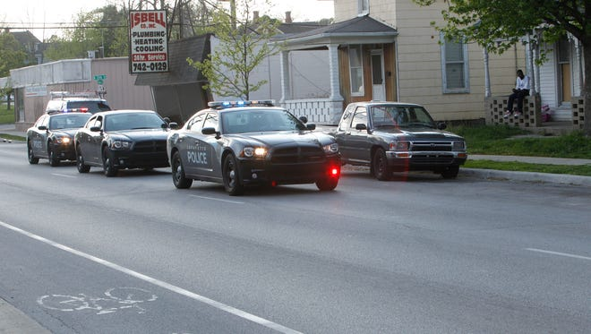 Lafayette police investigated a child struck by a car in the 1300 block of Union Street about 6:35 p.m. Monday.