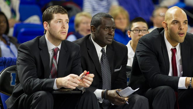 Former Western Kentucky assistant Shawn Forrest, center, has joined Louisiana Tech's staff.