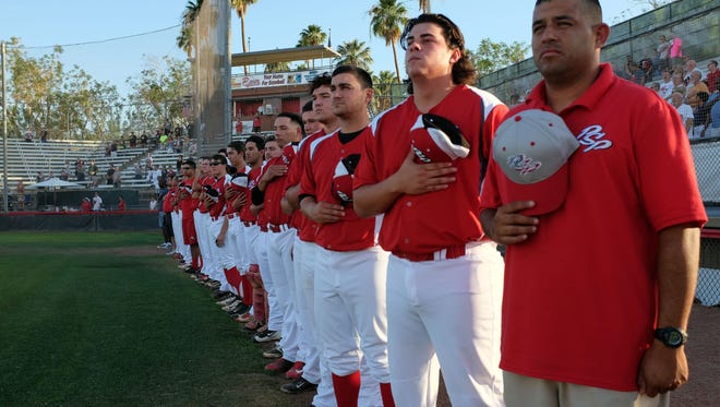 Scene from the Palm Springs Power and  So. Cal. Catch baseball game on Friday, June 3, 2016 in Palm Springs.
