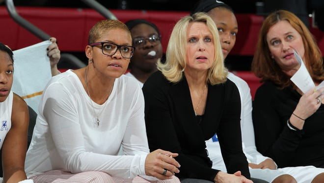 Deneen Parker (left) is joining the NSU women's coaching staff.