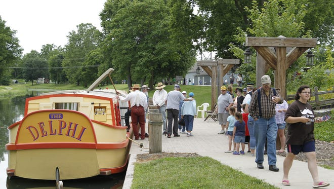 A boat tour is among the highlights of the annual Canal Days Festival in Delphi.