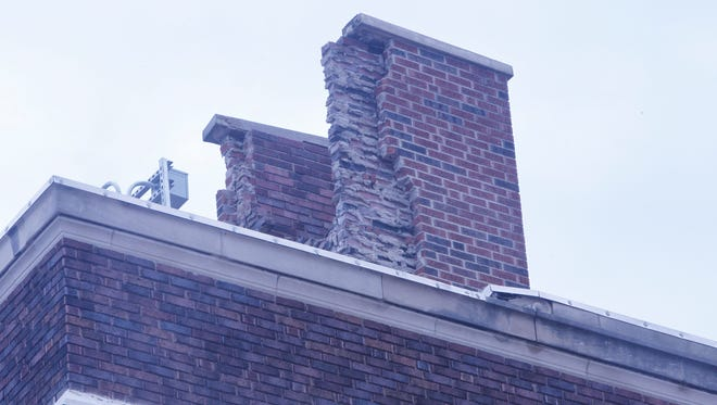 A lightning strike Wednesday destroyed the Long Center chimney.