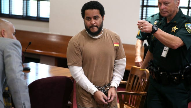 Luis Rivera, one of two men accused in the killing of Dan Markel, exits a Leon County courtroom after a pre-trial hearing on Thursday, Sept. 8, 2016.