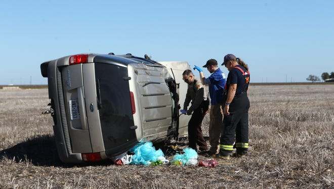 Two women were taken to the hospital following a rollover crash.