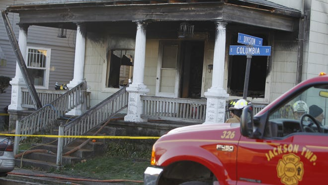 Four children were killed and two police officers were injured Monday during a house fire in Flora.