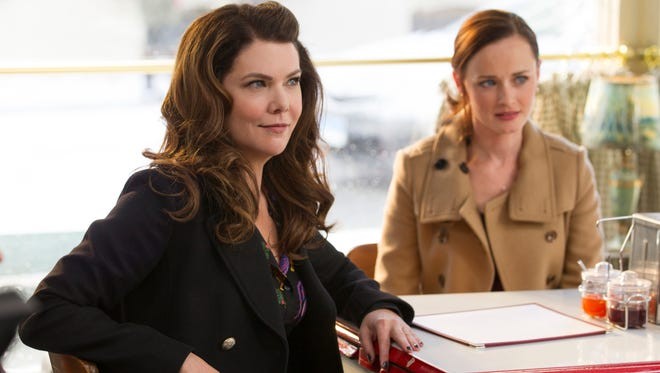 "This image released by Netflix shows Lauren Graham, left, and Alexis Bledel in a scene from, ""Gilmore Girls: A Year In The Life,"" premiering Friday on Netflix."