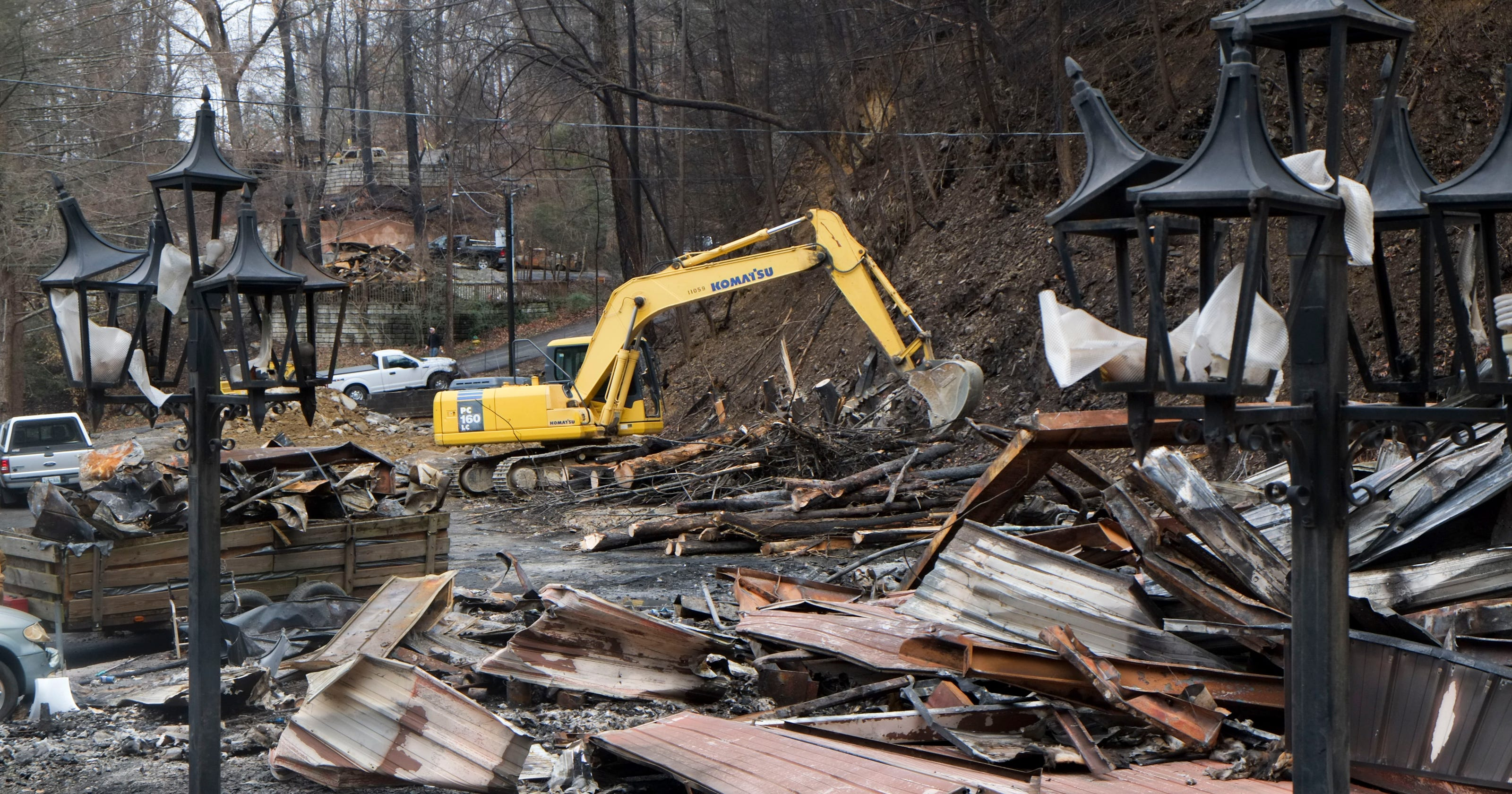 Map Structures Damaged In The Gatlinburg Fire