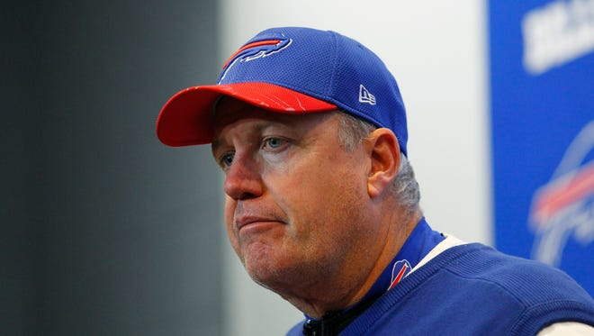 The Bills annoounced Tuesday that they have fired coach Rex Ryan ahead of their last game of the season after he failed to lead Buffalo to the playoffs.
