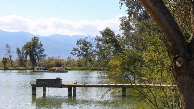 The 200 acre duck hunting ranch that the owner, Costa Mesa businessman Ken Fait, has donated to the Torres Martinez Desert Cahuilla Indians. Photo Taken on Tuesday, February 28, 2017 in Thermal.