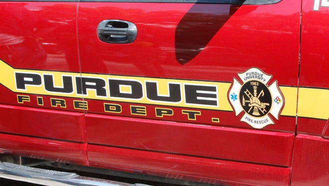 Purdue firefighters extinguished a fire Wednesday afternoon in a second-floor laboratory in Wetherill Hall. No one was injured.