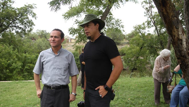 Rev. Stefano M. Cecchin will view historical documents referring to the Jumano Tribe and interview committee members about their plans for the site.