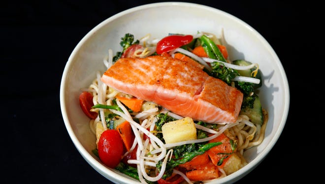 At Bowls, 207 W. Freshwater Way, the soba noodle bowl starts out vegan but can be topped with salmon or other choices of protein.