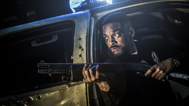 "Will Smith is a cop with an orc for a partner in the fantasy/crime thriller ""Bright,"" premiering on Netflix Dec. 22."