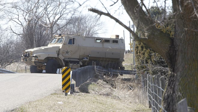 Tippecanoe County  Sheriff's Office MRAP used by the Special Response Team/File